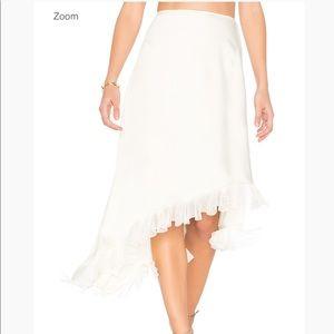 Elizabeth and James white asymmetrical midi skirt